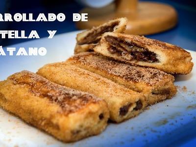 Enrollados de Nutella y Banana Monte Cristo