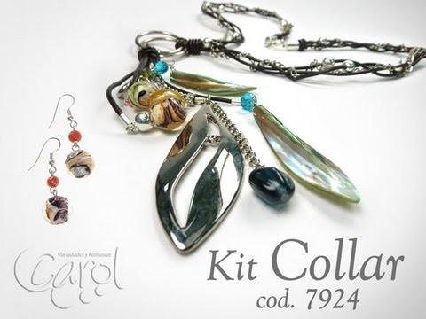 KIT 7924 kit Collar Cuero Hojas Cafe x und