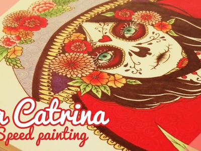 ♡ La Catrina ♡. Speed painting. Painting process By Piyoasdf