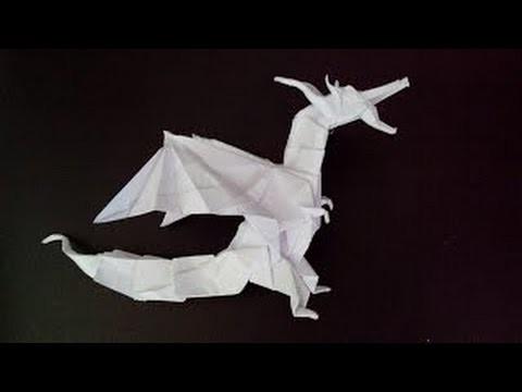 Origami Fiery Dragon (Kade Chan) - papiroflexia dragon