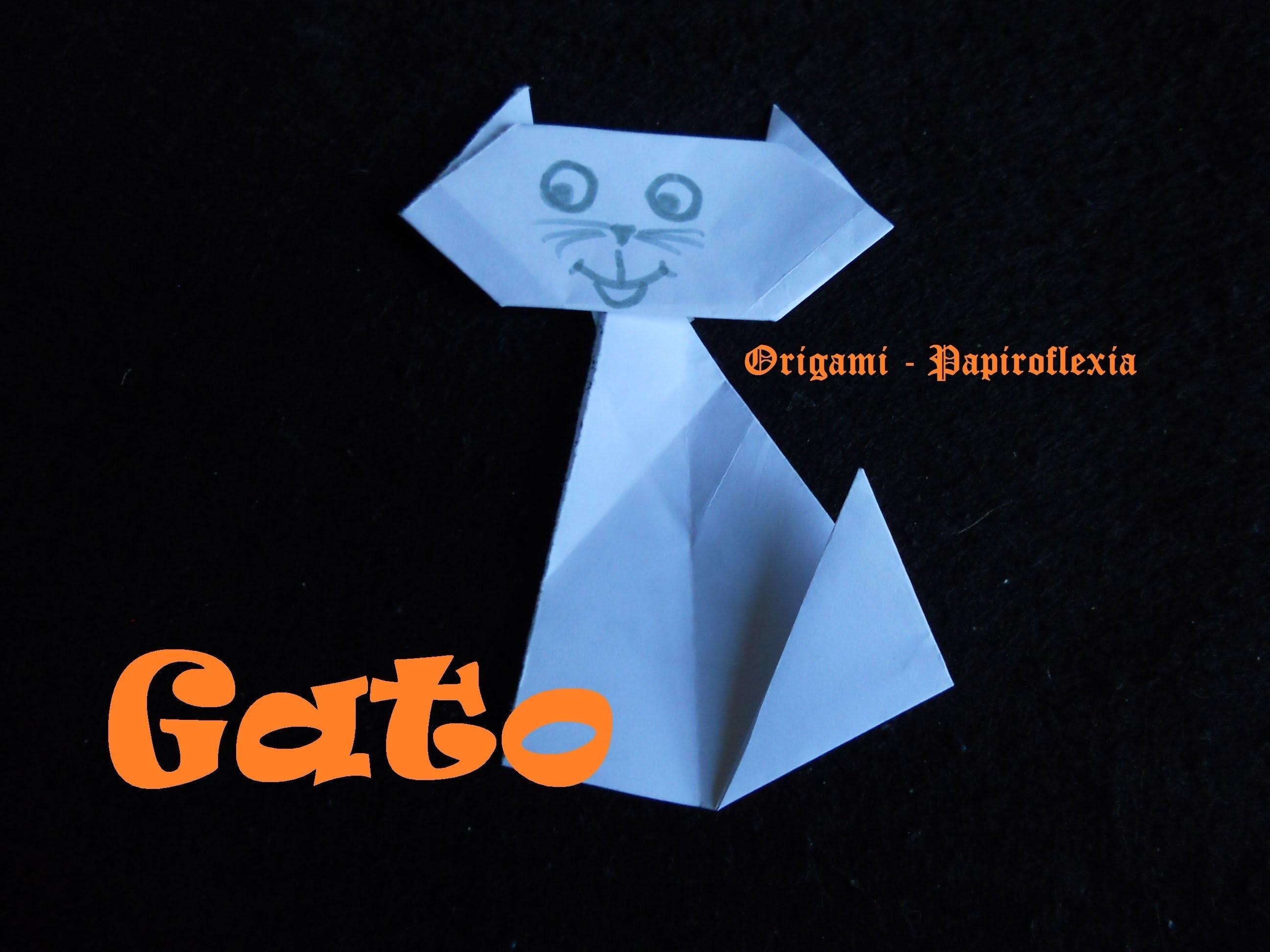 Origami - Papiroflexia. Tutorial: Gato, muy fácil y rápido