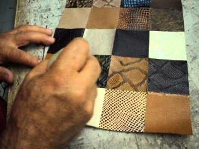 Proceso de fabricacion de un bolso con retales de cuero