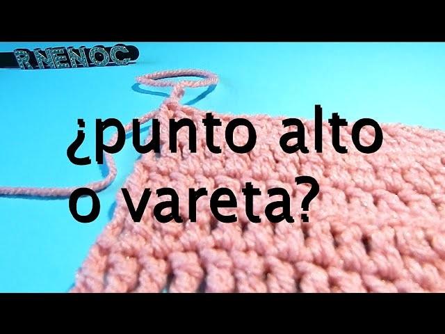 Punto Alto Extendido Ganchillo Crochet doble croche #DIY