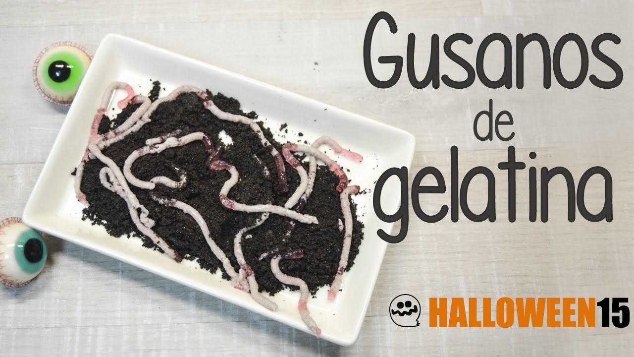 Receta de gusanos de gelatina para Halloween