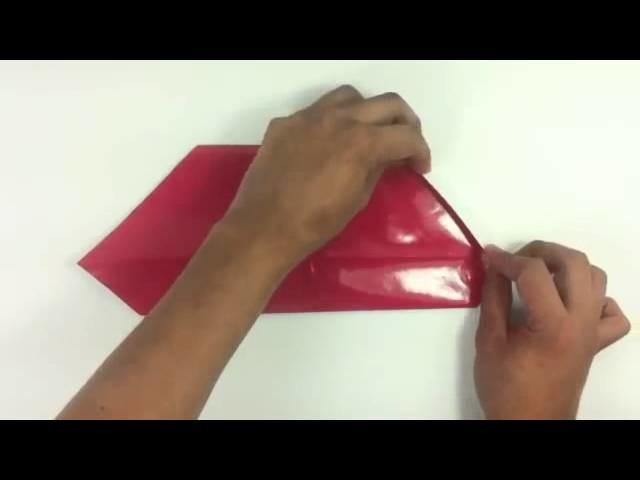 Santa Claus de origami - Papiroflexia Papá Noel