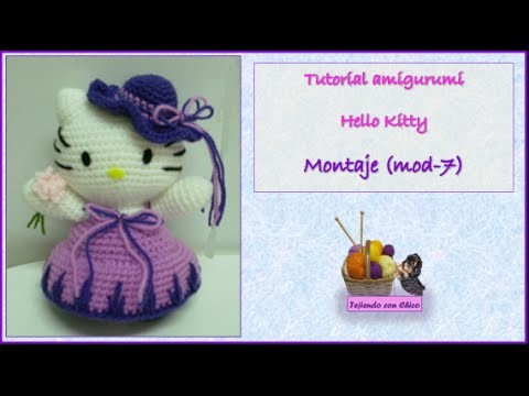 Tutorial amigurumi Hello Kitty - Montaje (mod-7)