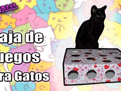 ♥ Tutorial: Caja de juegos para Gatos ♥
