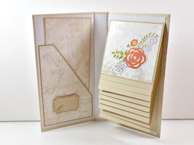 Tutorial: Mini Album Cascada | Scrapbooking | Mundo@Party