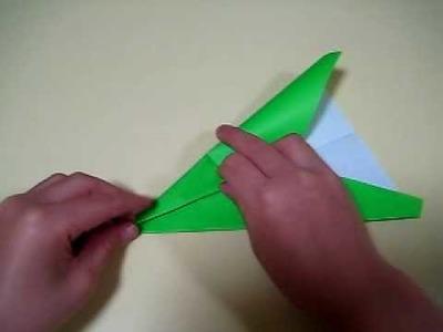 Avion (airplane) en origami 3