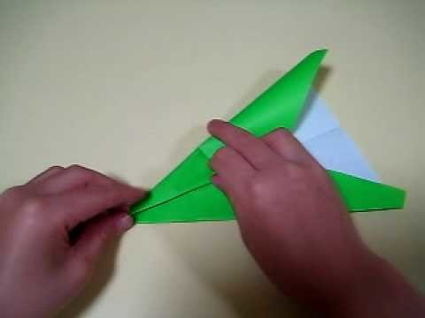 Avion (airplane) en origami 3