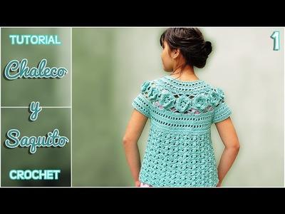 Chaleco y saquito a crochet para niña, paso a paso (1 de 3)