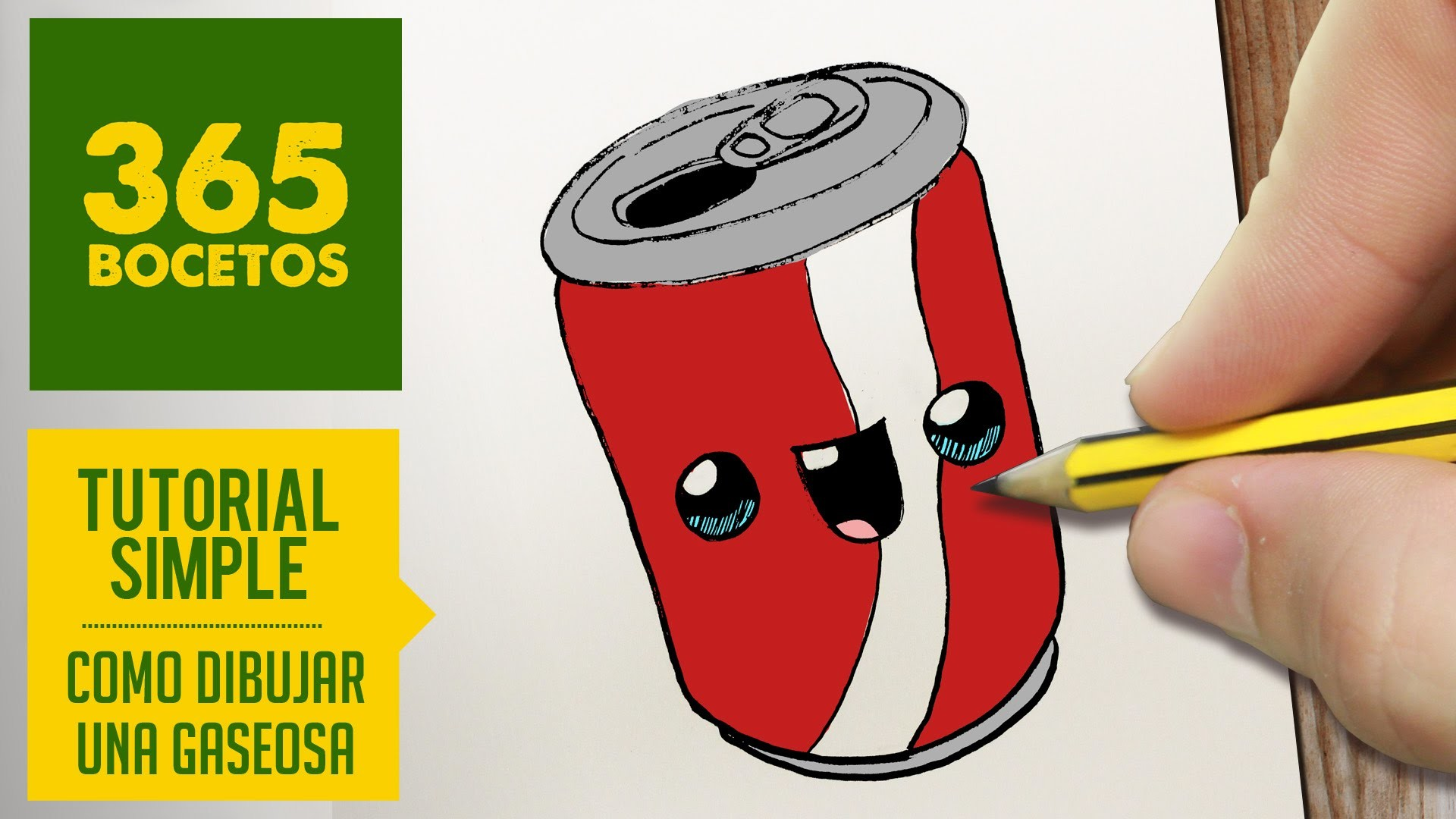 COMO DIBUJAR UNA GASEOSA KAWAII PASO A PASO - Dibujos kawaii faciles - How to draw a soda can