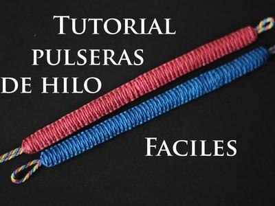Como hacer  pulseras de hilo faciles