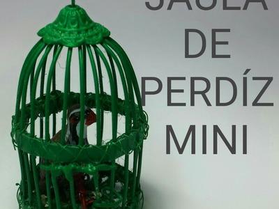 COMO HACER UNA JAULA DE PERDIZ PARA EL BELEN - PARTRIDGE CAGE