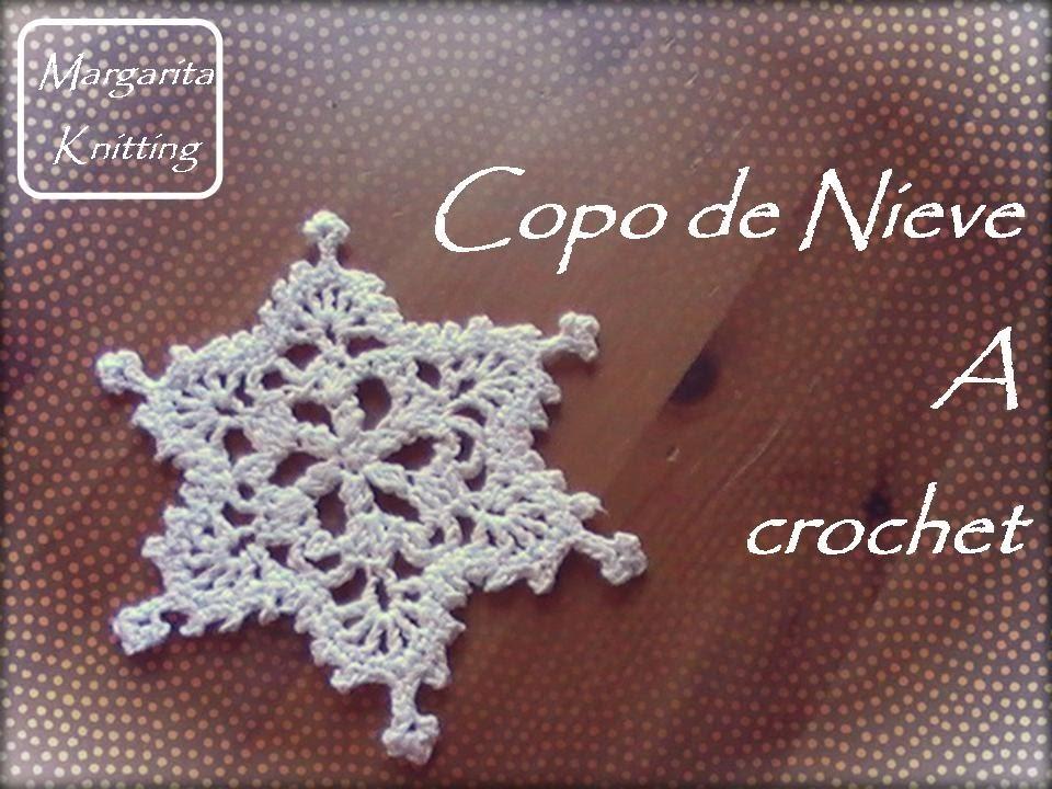 Copo de nieve a crochet (zurdo)