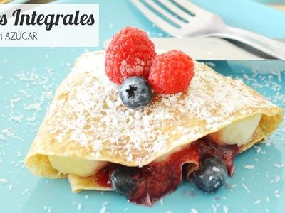 Desayuno Saludable: Cómo hacer crepes integrales
