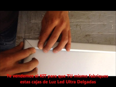 Fabricacion caja de luz led ultra delgada