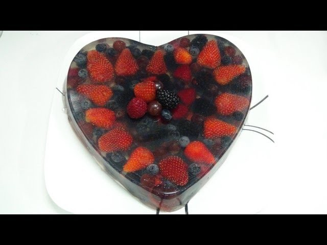 GELATINA FRUTOS DEL BOSQUE - JELLY HEART OF BERRIES angycrisjavi