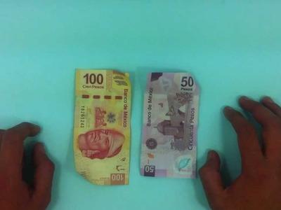 Hacer un truco de magia con billetes - Ilusionismo