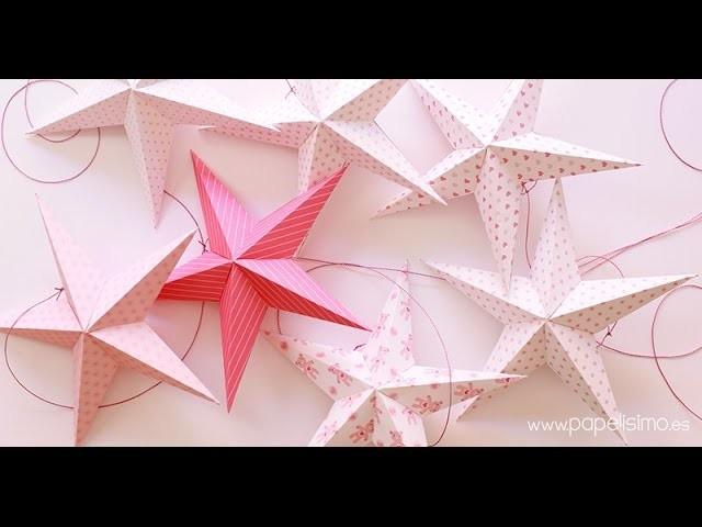 Móvil de techo para niños con estrellas de papel