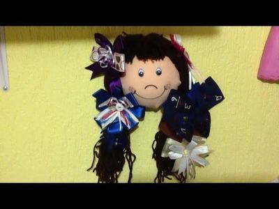 Muñeca Porta Moños, organizador