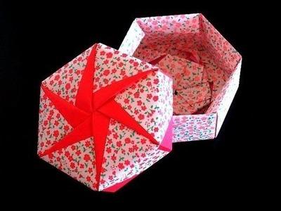 Origami hermosa cajita, como hacer cajita de papel papiroflexia