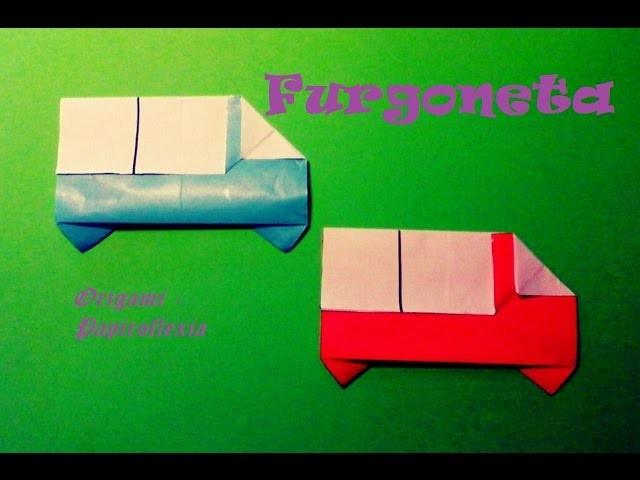 Origami - Papiroflexia. Furgoneta de papel muy fácil y sencilla