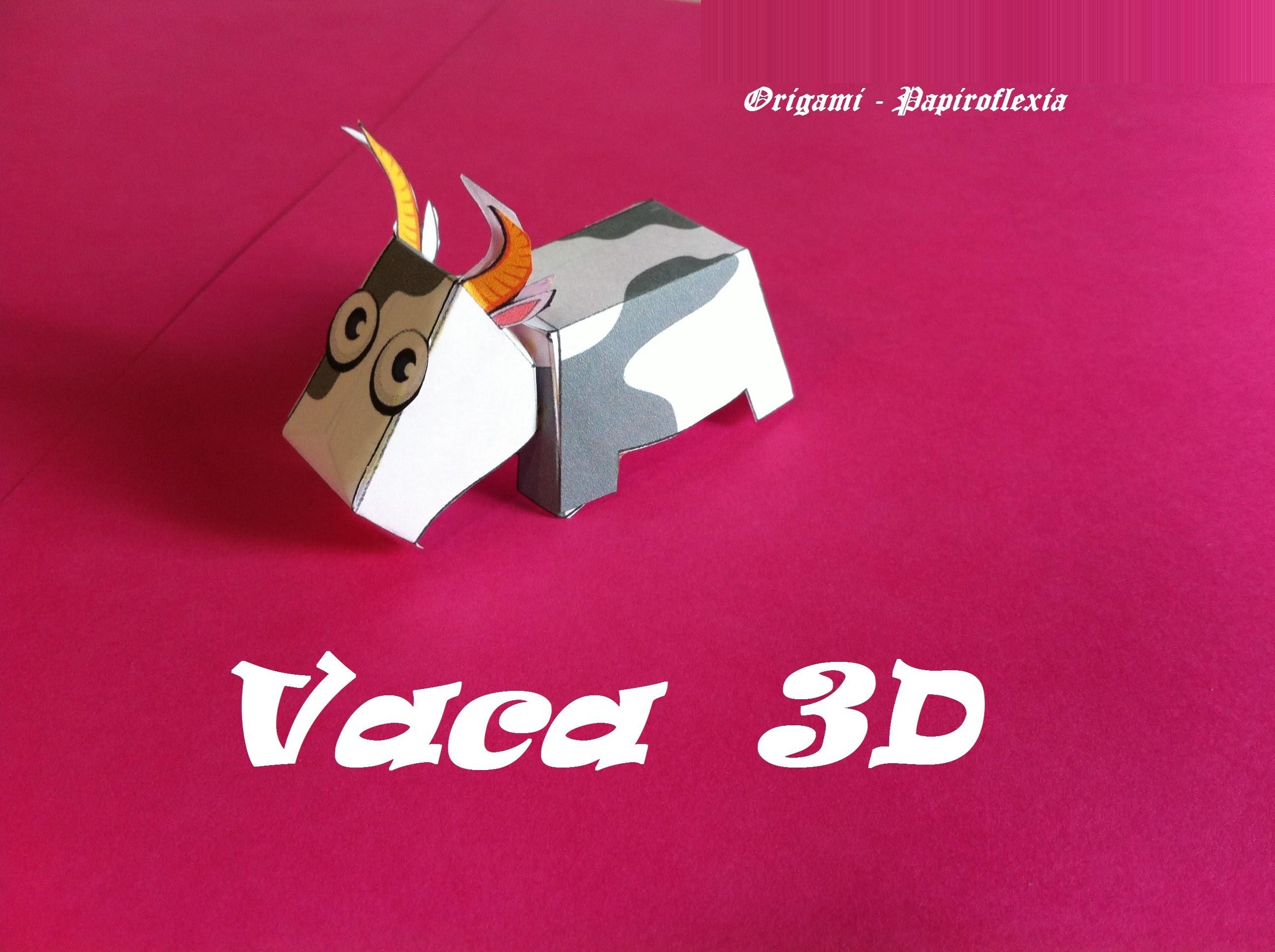 Paper Toys. Origami - Papiroflexia. Vaca 3D