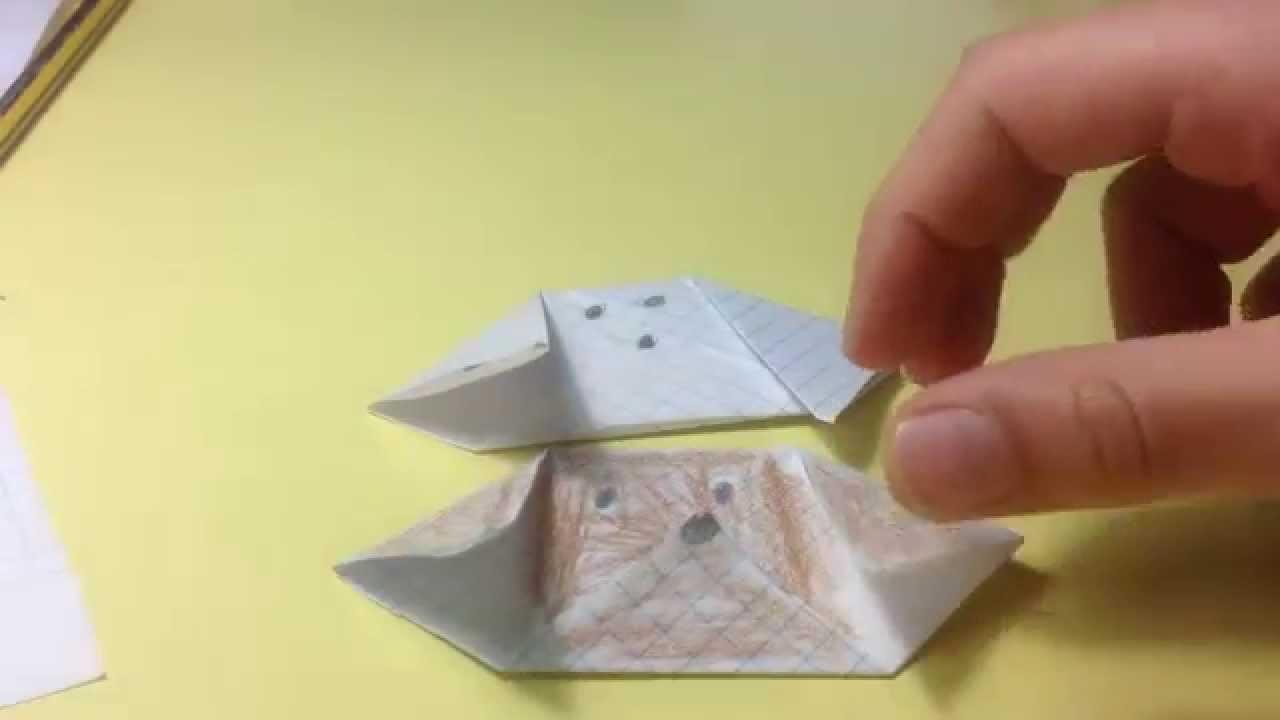 Papiroflexia. Origami  - Como hacer un perro de papel