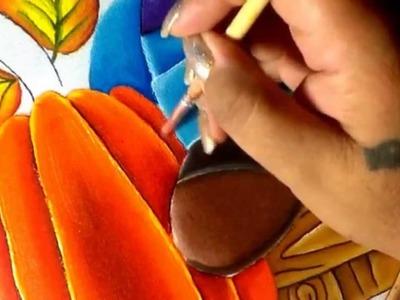Pintura en tela Espantapajaros # 6 con cony