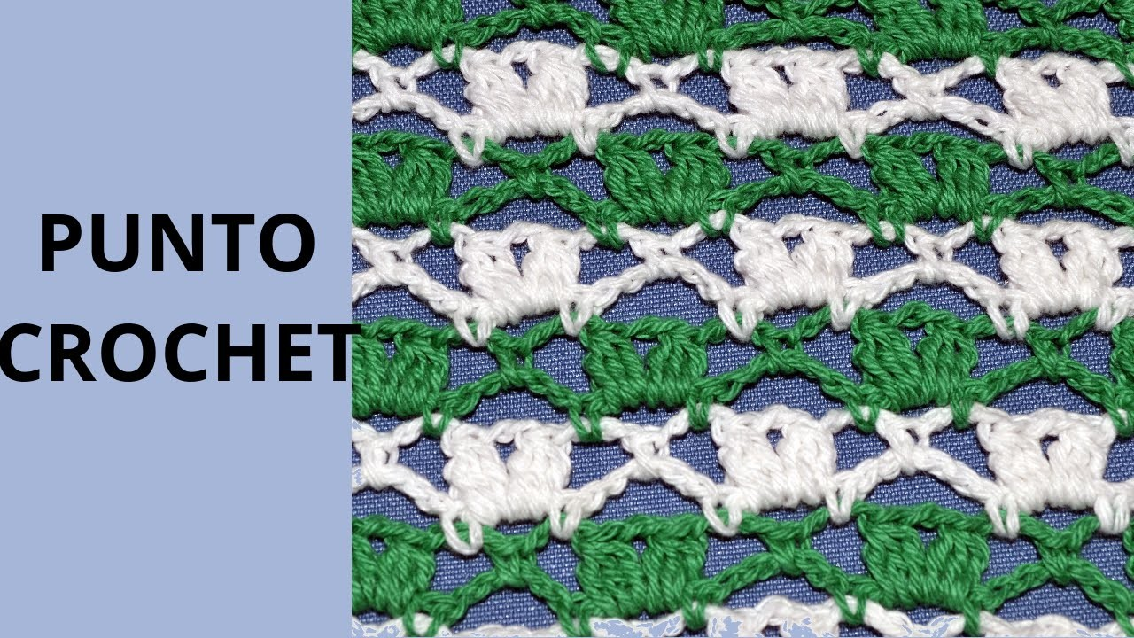 Punto Fantasia N° 65 en tejido crochet tutorial paso a paso.