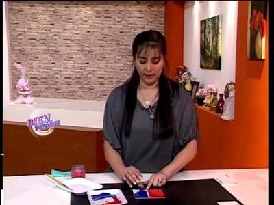 Sublimación sobre Madera y Craquelado Color - Rosana Ovejero en Bienvenidas TV
