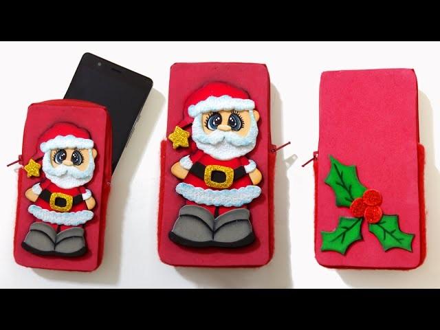 Tutorial funda de celular para Navidad, funda de movil de foamy - Isa ❤️