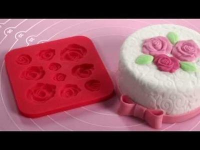 633020 Molde motivos corazones para pasta de azúcar Delícia Deco.