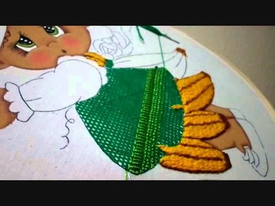 Bordado Fantasía Vestido Niña Platano