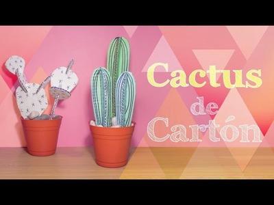 Cactus decorativos de CARTÓN