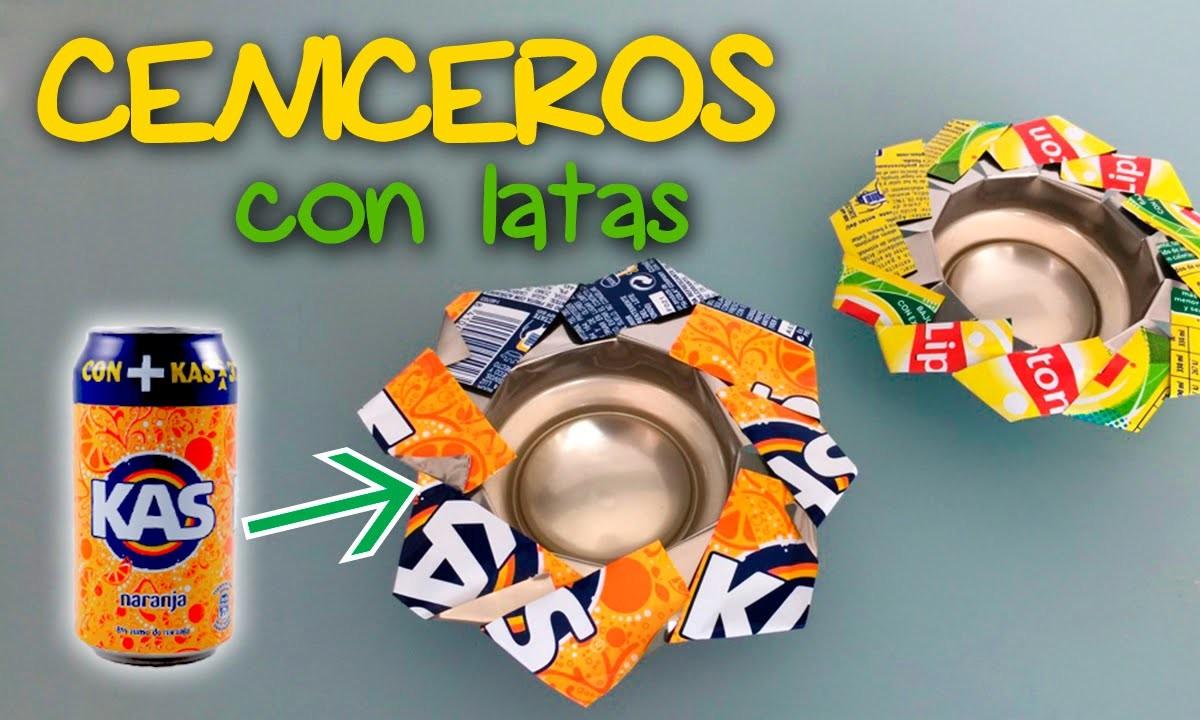 Cenicero o portavelas * Reciclaje de LATAS DE REFRESCO