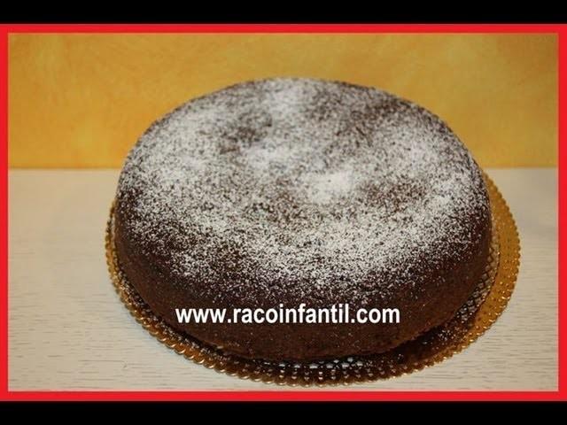 Como hacer bizcocho de chocolate fácil (www.racoinfantil.com)