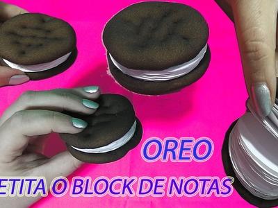 COMO HACER LIBRETITA CON FORMA DE SANDWICH DE GALLETA DE CHOCOLATE OREO O NOTEBOOK O BLOCK DE NOTAS