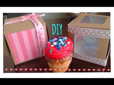 Como hacer una caja para cupcake o regalo l DIY
