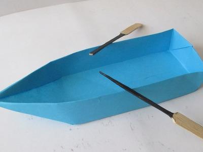 Como Hacer Una Canoa Lancha o bote de Papel
