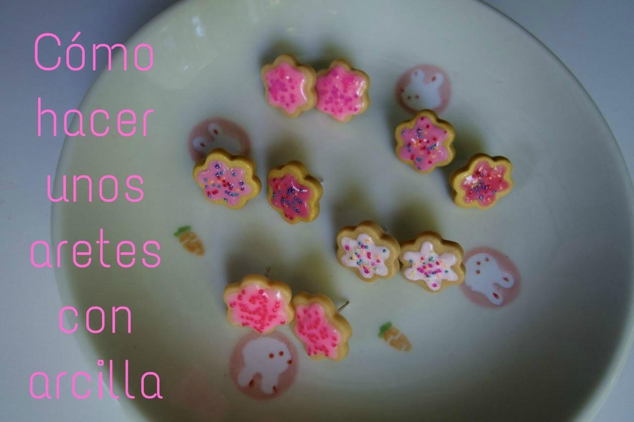Cómo hacer unos aretes en forma de galletas