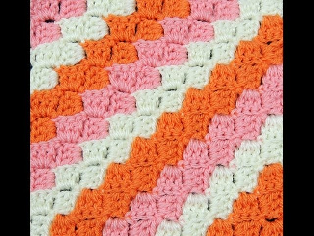 Crochet : Punto Escalera Diagonal
