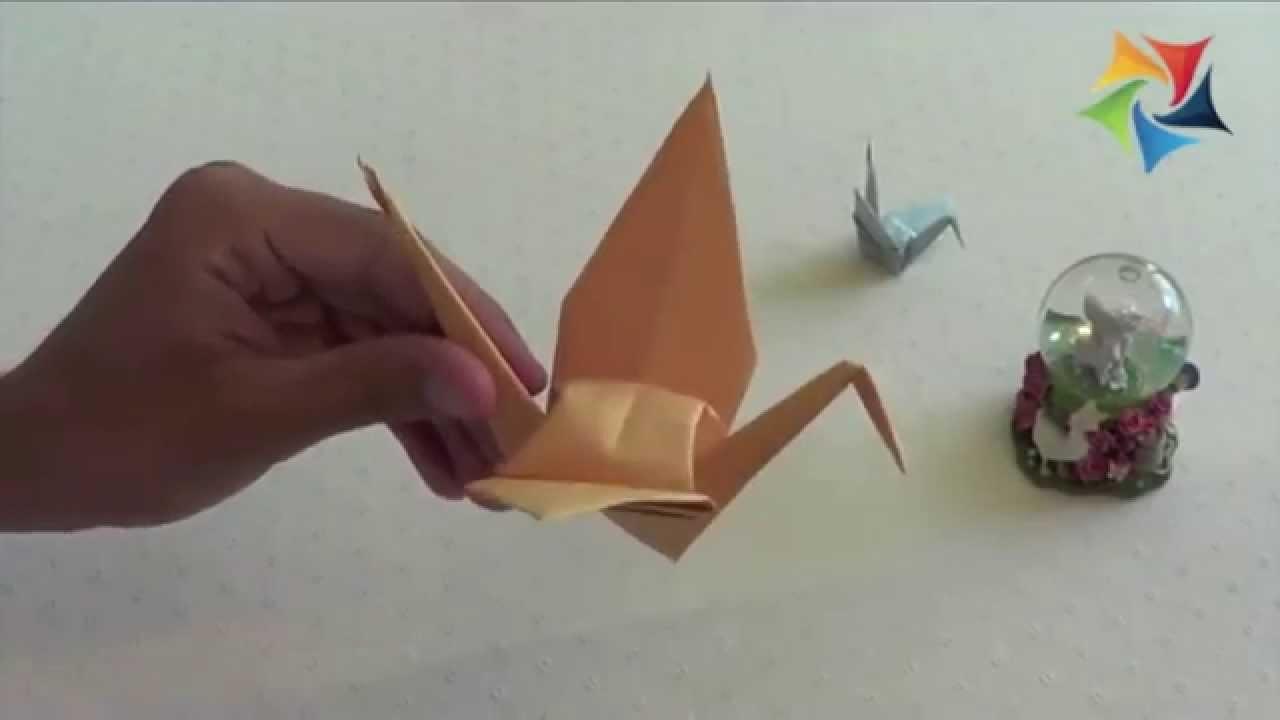 Curso de Papiroflexia [Origami] Cómo hacer una grulla de papel