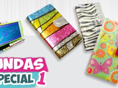 DIY✔ FUNDAS CASERAS para Celular - Papel y Hule (Especial 1) ★Así o más fácil★