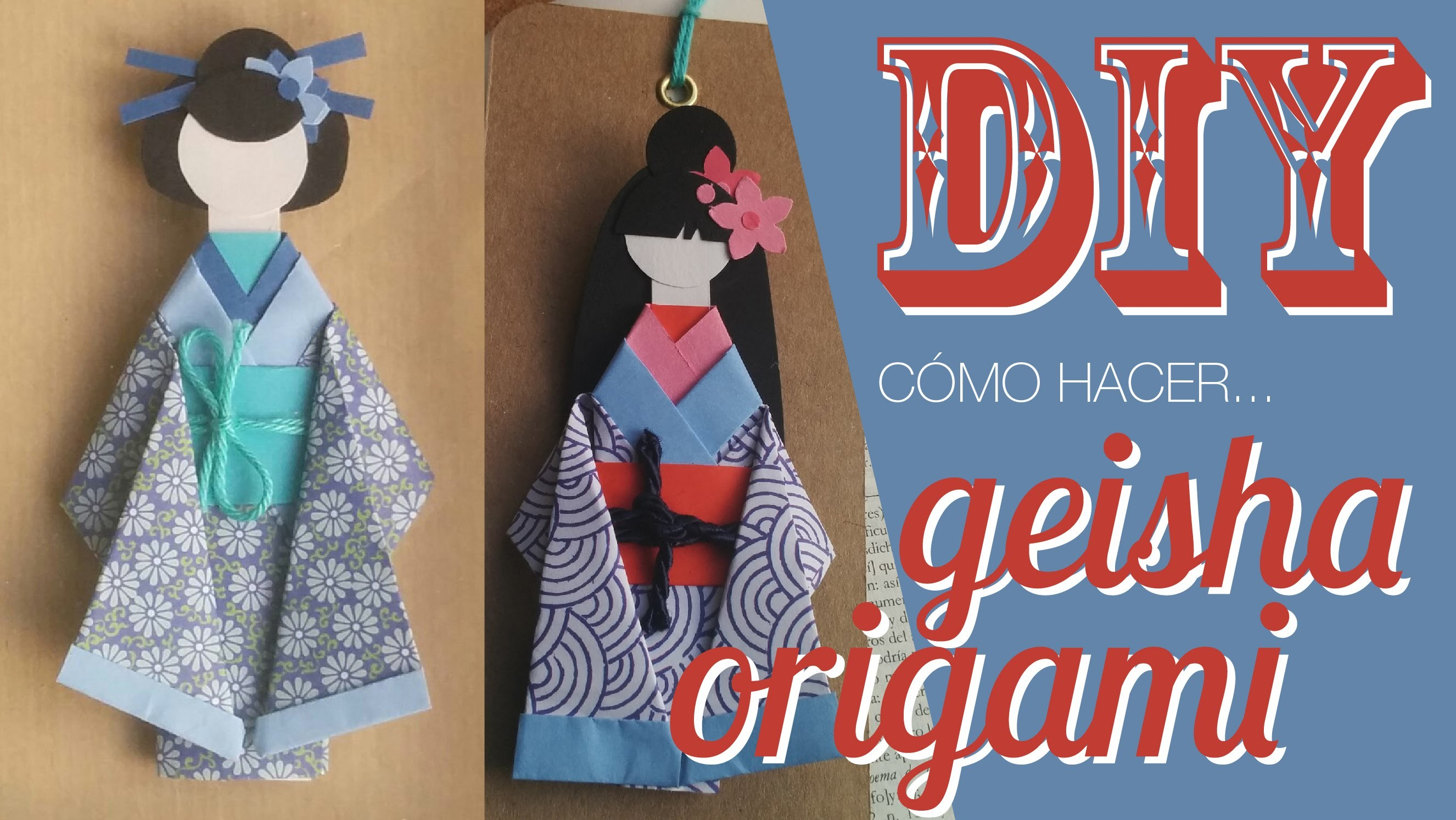 DIY Geisha origami.