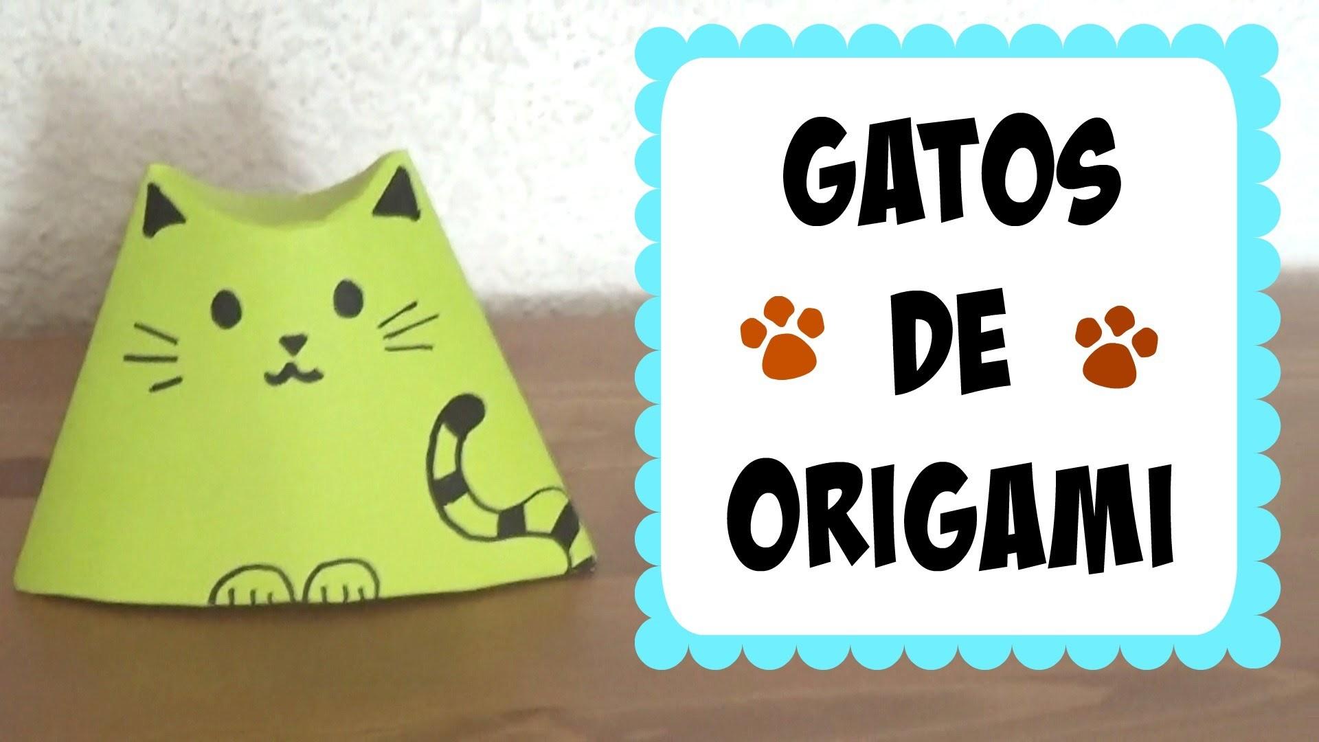 Gatitos de Origami (Fácil y Cute!)