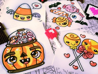 Halloween Drawings - How To Draw Kawaii Candies by Garbi KW