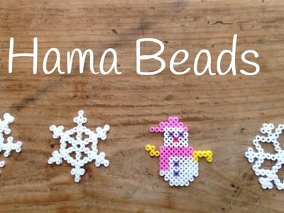 Hama beads navidad, muñeco de nieve - hama bead snowman