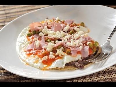 Huevos motuleños - Mexican fried eggs - Recetas de desayunos - Recetas de cocina mexicana